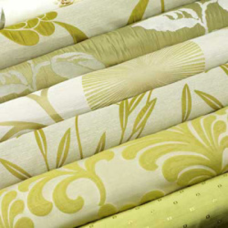 Green Curtain Fabric by The Metre