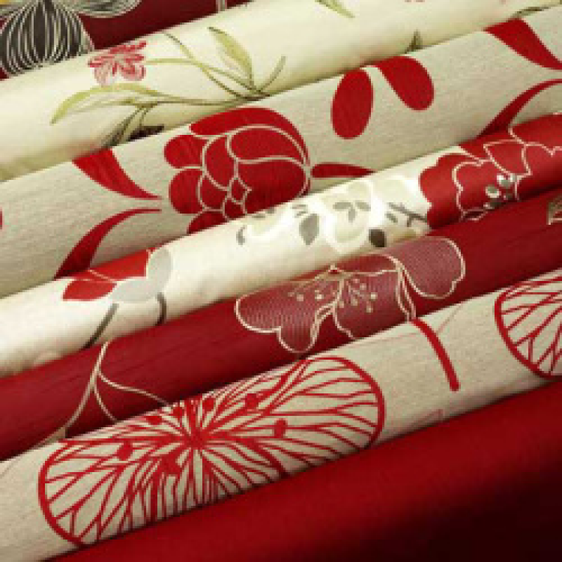 Red Curtain Fabric By The Metre
