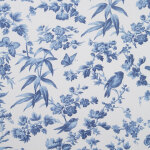 Made To Measure Curtains Amelia Blue Flat Image