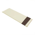 Cream Wood Venetian Blind With Chocolate Tape Swatch