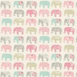 Elephants Pastel Roller Blind