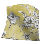 Made To Measure Curtains Finch Toile Buttercup Flat Image