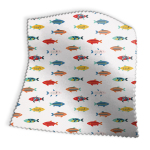 Made To Measure Roman Blinds Mr Fish Poppy Swatch