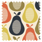 Made To Measure Scribble Pears Multi Blackout Roller Blind Swatch