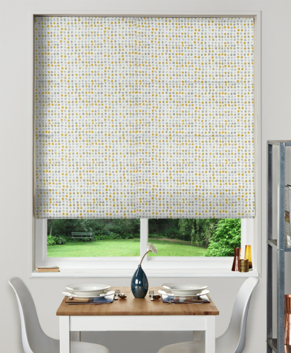 Made To Measure Roman Blinds Dot Dot Ochre 1