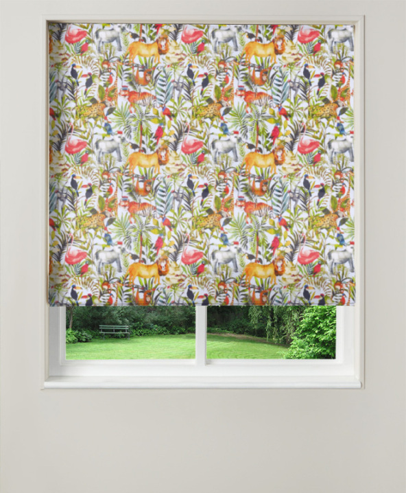Made To Measure Roman Blinds King Of The Jungle Waterfall