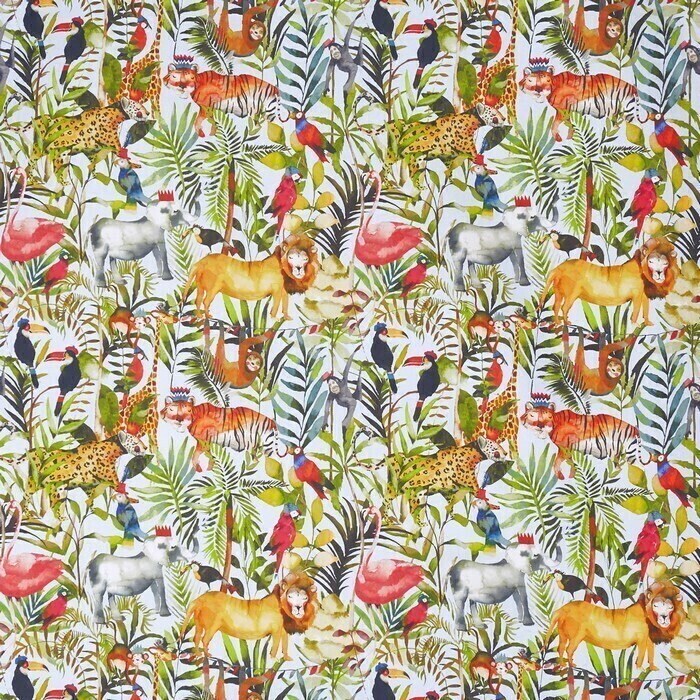 Made To Measure Roman Blinds King Of The Jungle Waterfall Swatch