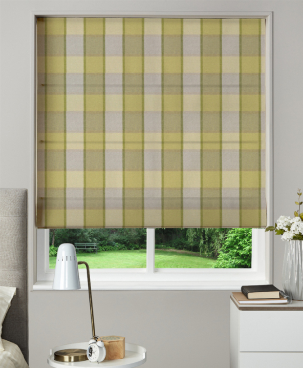 Made To Measure Roman Blind Solway Moss 1