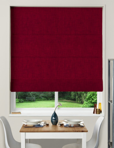 Made To Measure Roman Blind Essentials Hessian Bordeaux