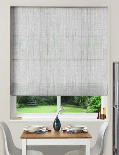Made To Measure Roman Blind Pisa Silver
