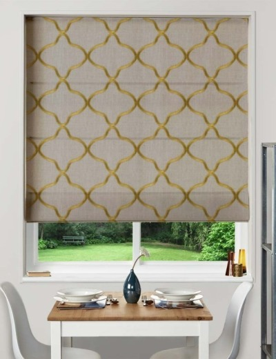 Made To Measure Roman Blind Leyla Citrus