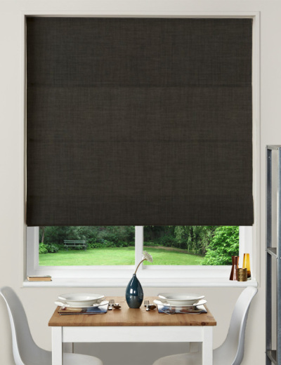 Made To Measure Roman Blind Linoso Charcoal