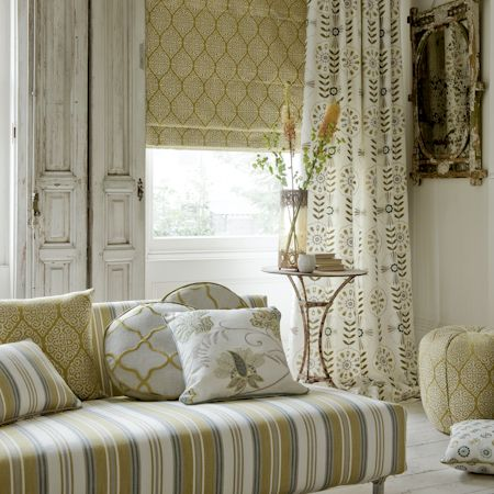 Zari Viscose Linen Roman Blind, Mandana Embroidered Curtains